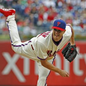 Jonathan Papelbon with his glove currently involved in trade negotiations.