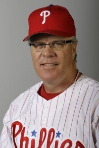 Philadelphia Phillies'  Pete Mackanin during photo day, Wednesday, Feb. 24, 2010 in Clearwater, Fla.  (AP Photo/Eric Gay)