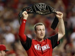 Todd Frazier, mere moments before he was stripped of his title belt (Photo Credit: USA Today)